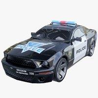 police vehicle 3D model