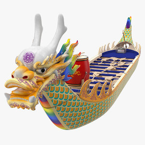 3D traditional dragonboat dragon boat racing