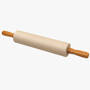 3D wooden rolling pin wood model
