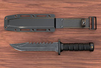 Combat Knife and Sheath