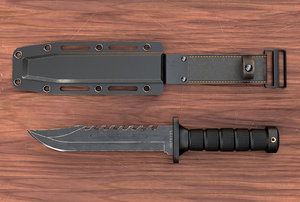 3D combat knife sheath