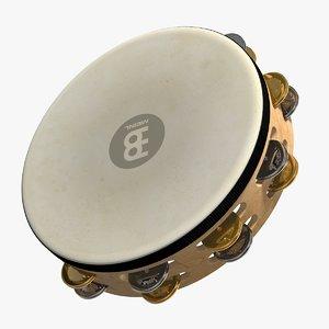 3D meinl tambourine wood
