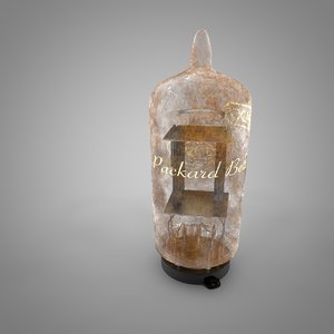 vacuum tube packard-bell-rca-12ax7 l060 3D model