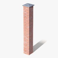 3D brick pillar column