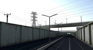 3D model highway way