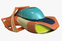fictional hover jet car 3D model