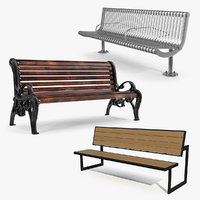 street benches 3D model