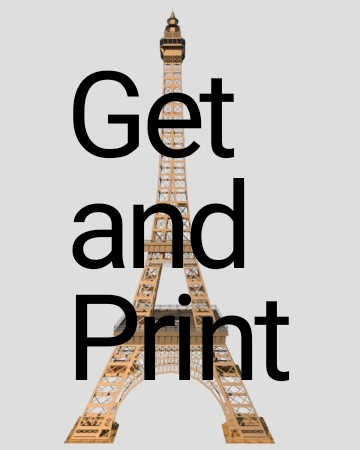 3D ready print eiffel tower