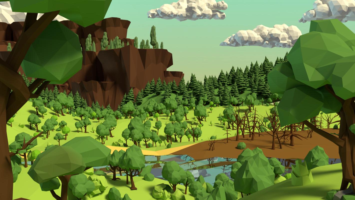 3D model trees bushes