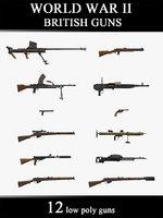 world war ii british 3D
