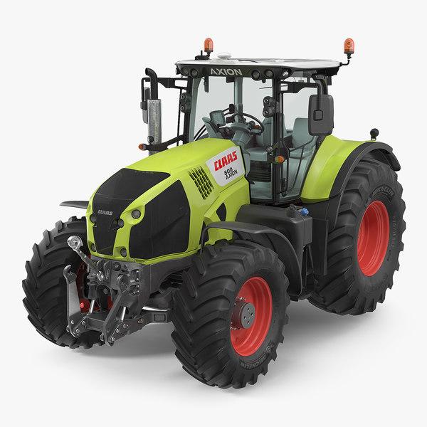 3D tractor claas axion 800 model