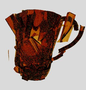 cup dropped broken model