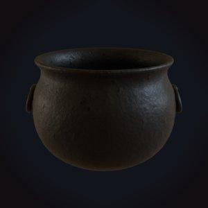 3D model medieval cauldron 2
