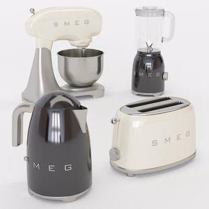 3D home appliances smeg model