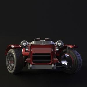 3D car animation model