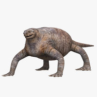 3D model dinosaurs reptile dino