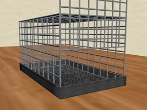 cage animals 3D model
