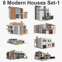 8 Modern Houses Set_1