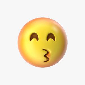 emoji 17 kissing face model