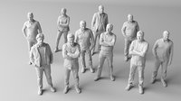 10 low poly people vol.1