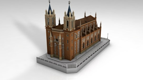 cathedral church san jeronimo 3D model