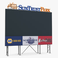 3D model stadium scoreboard board score