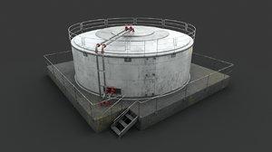 liquid storage industrial 3D