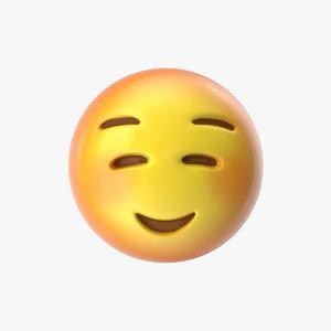 3D emoji 19 smiling face