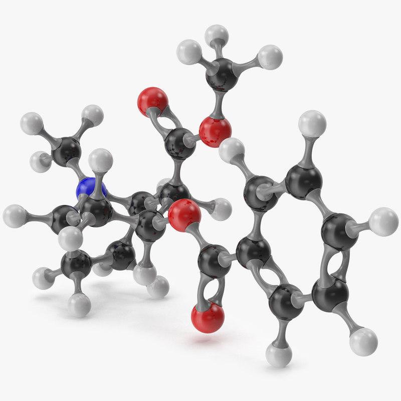 3D cocaine molecular