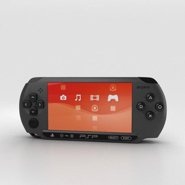 3D sony playstation portable model