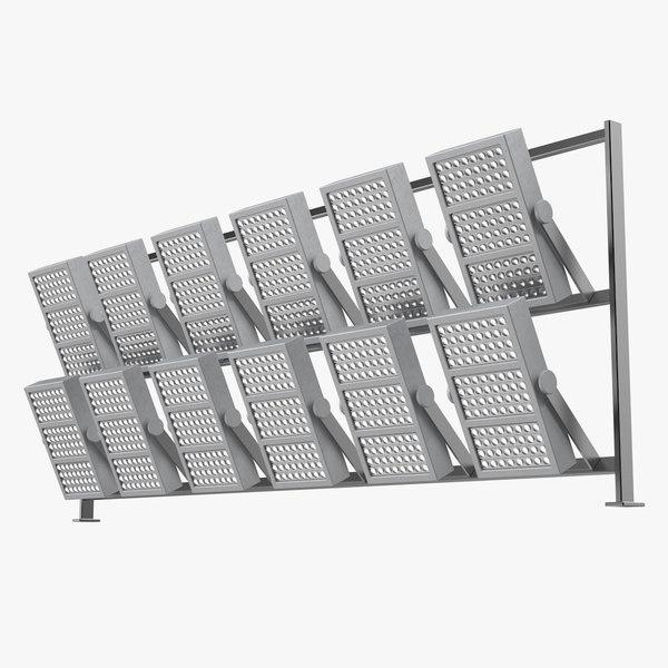 stadium lighting panel 3D model