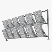 stadium lighting panel 3D model