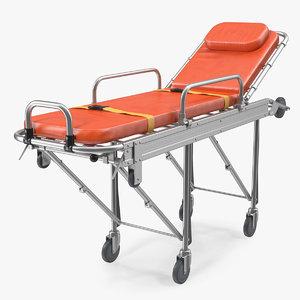 transport ambulance stretcher trolley 3D model