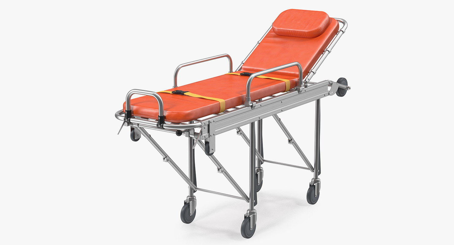 transport ambulance stretcher trolley 3D model