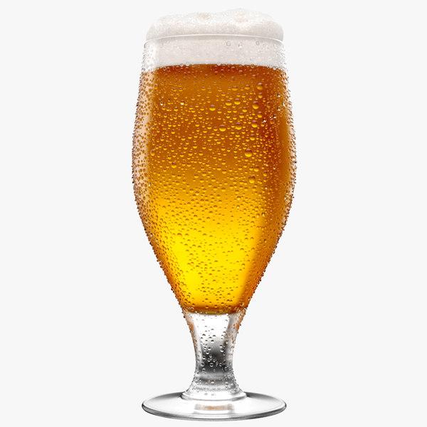3D beer glass