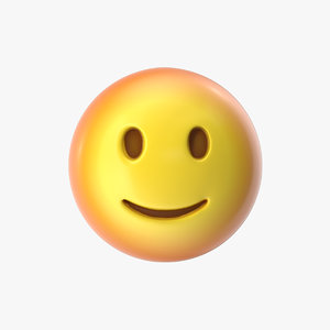 emoji 20 slightly smiling 3D model