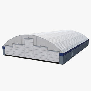 aircraft maintenance hangar air 3D model