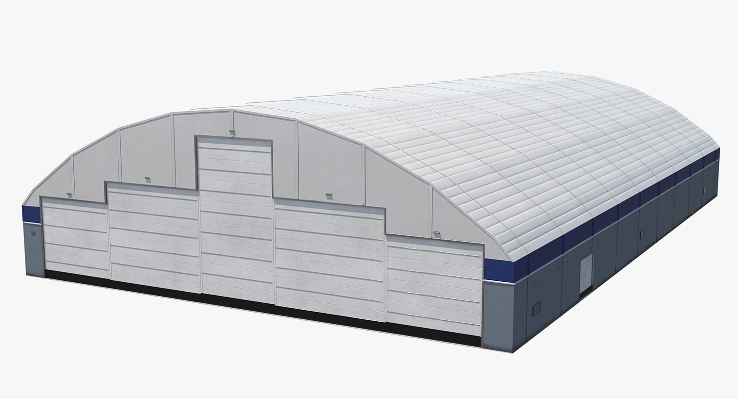 aircraft maintenance hangar air 3D model