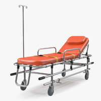 3D ambulance stretcher trolley