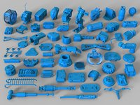 Kit bash - 58 pieces - collection-24