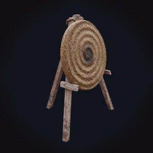 3D straw archery target
