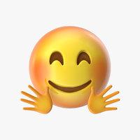emoji 21 hugging face 3D