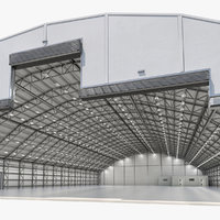 3D aircraft maintenance hangar air