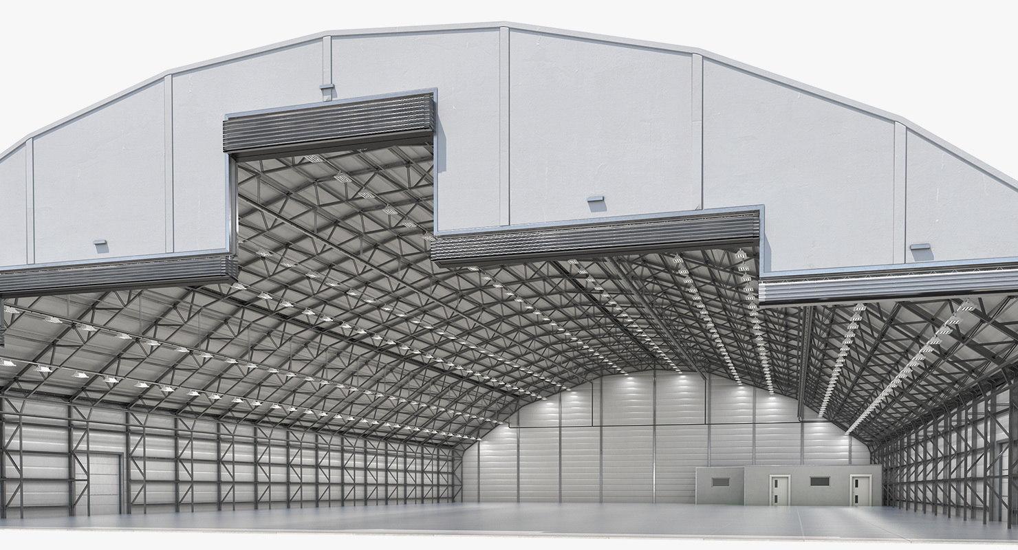 3D aircraft maintenance hangar air