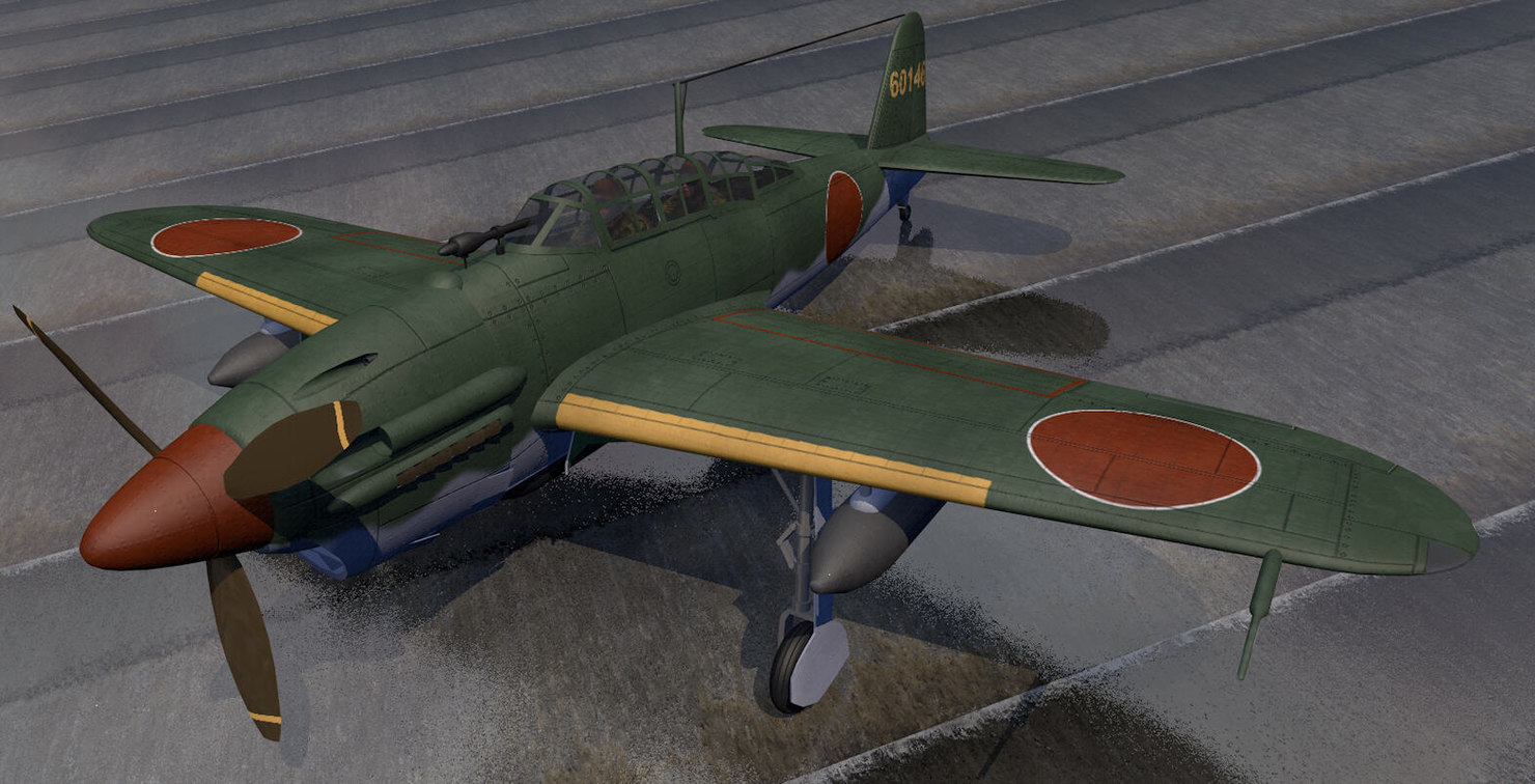 3D model yokosuka d4y2 d4y3 suisei