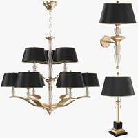 luxury lamps chandelier 3D model
