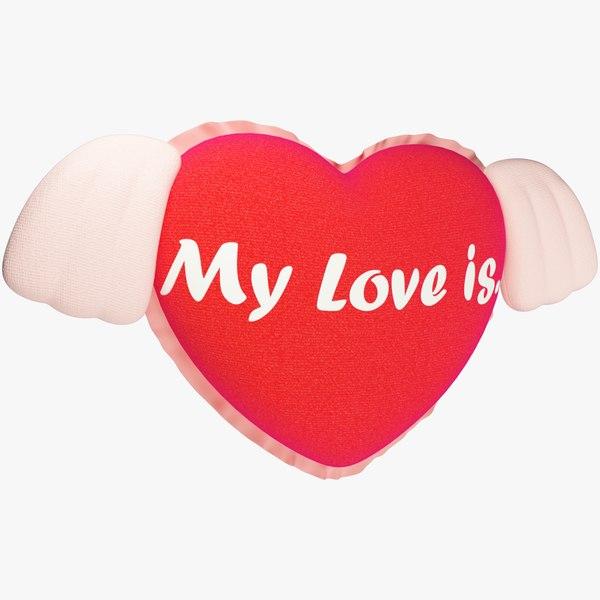 3D stuffed heart