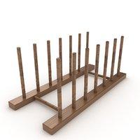 holder wooden wood 3D
