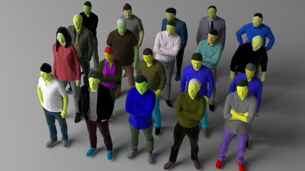 3D 20 colored people vol 1