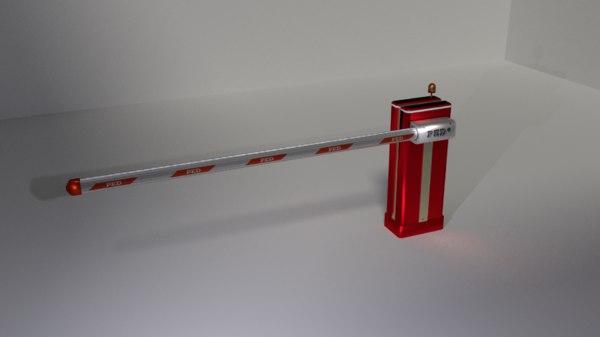 boom barrier 3D